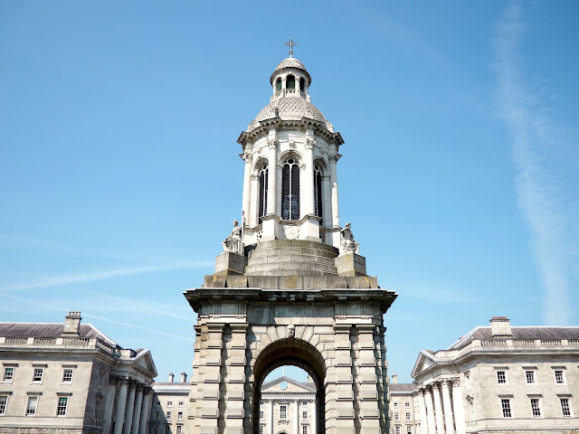 Bell tower in Trinity College, Dublin, Ireland