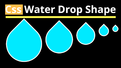 css3 drop water shape