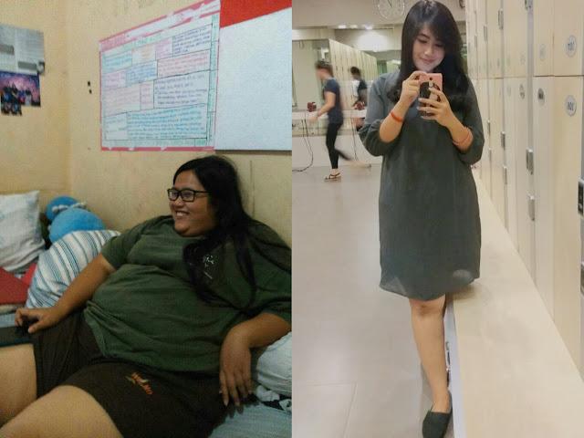 Kisah Diet Cewe Cantik Khairani Windya, Dengan Ketekunannya, 51 Kg Lemak Berhasil Lenyap !
