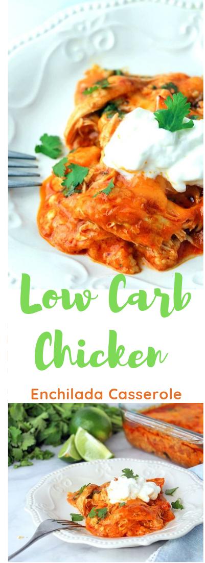 Low Carb Chicken Enchilada Casserole #chicken#food