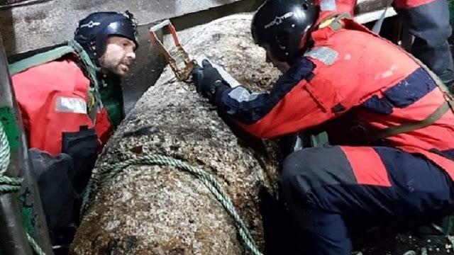 Un movimiento basta para que explote: pescadores encuentran una bomba de la II Guerra Mundial