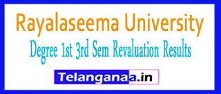 RU Degree 1st 3rd Sem Revaluation Results 2017