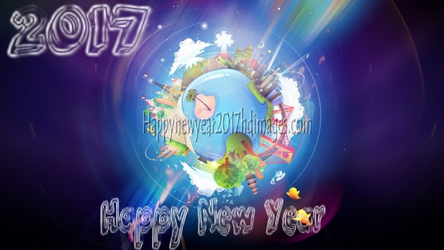 Happy New Year 2017 3D Background Wallpapers Download Free