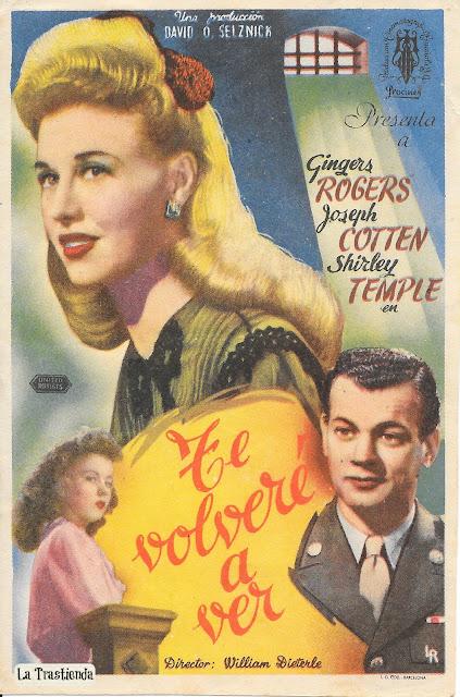 Programa de Cine - Te Volveré a Ver - Ginger Rogers - Joseph Cotten