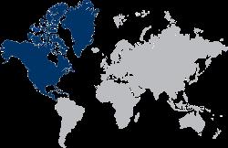 Le Chameau Bleu - Mappemonde Voyage en Amérique du Nord