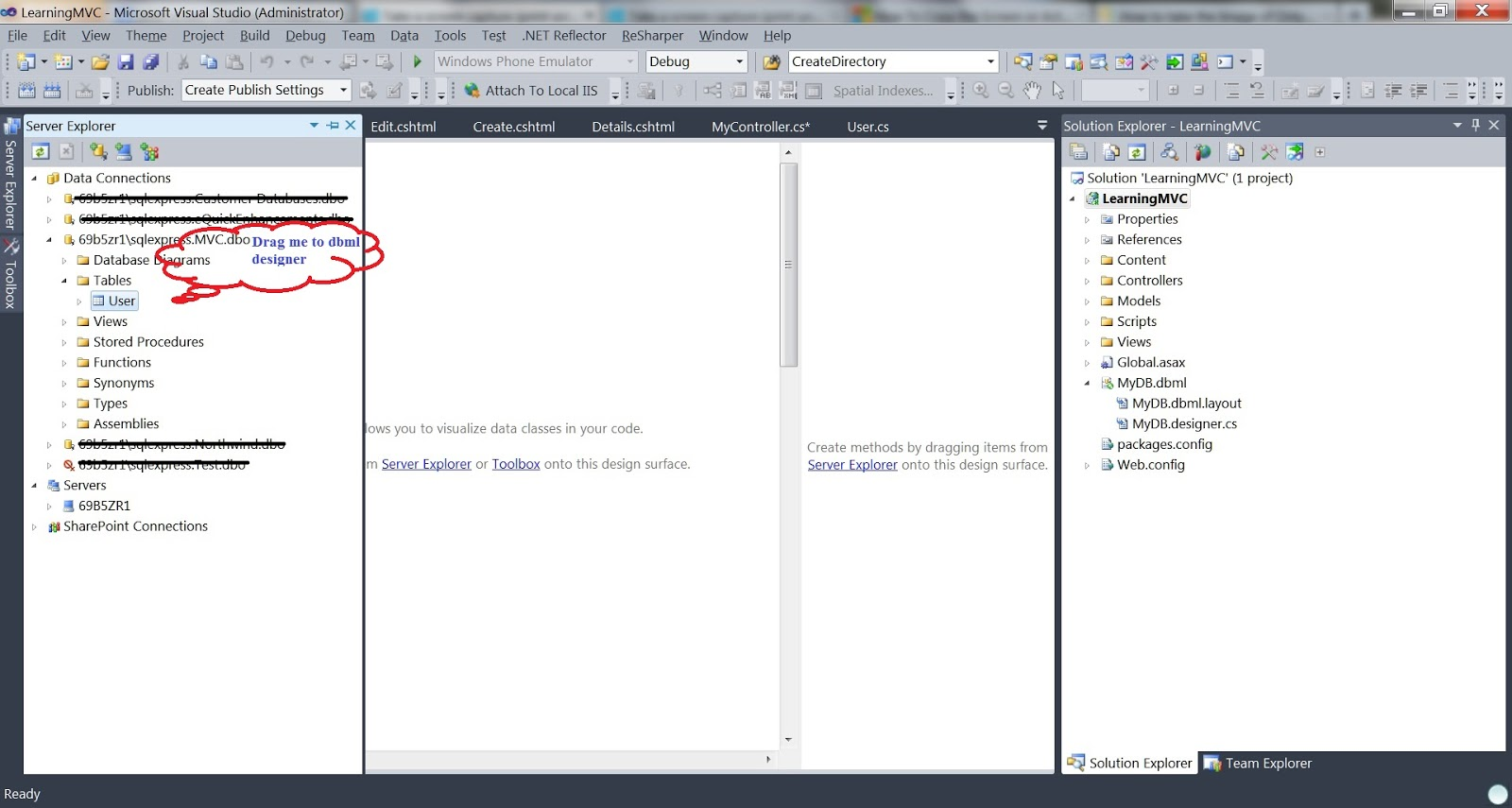 database diagram visual studio 2013 4 way electrical switch wiring a practical approach learning mvc part 2 creating