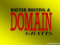 Situs Penyedia Domain / Hosting Gratis dan Murah