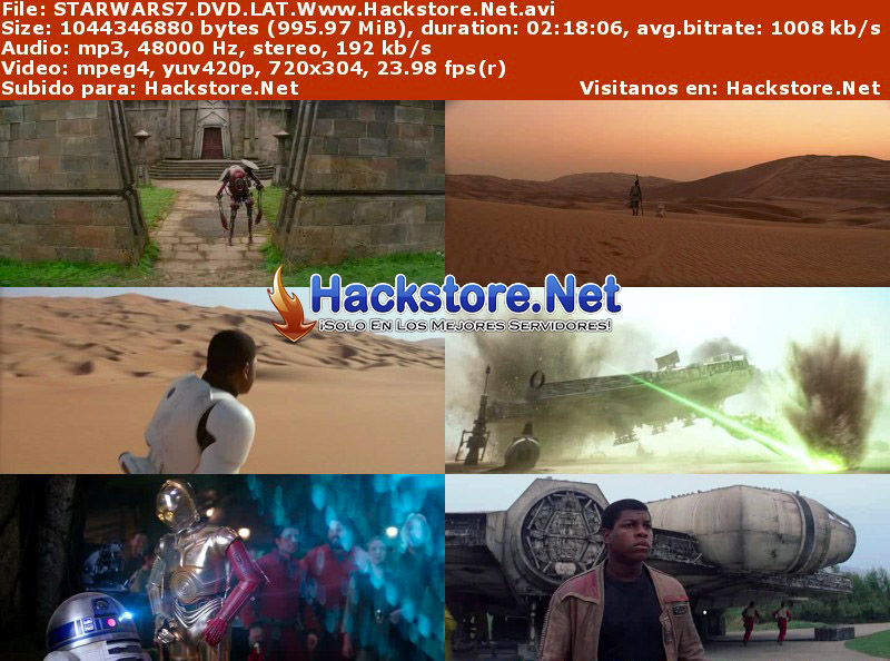 Capturas de Star Wars: El despertar de la Fuerza (2016) DVDRip Latino