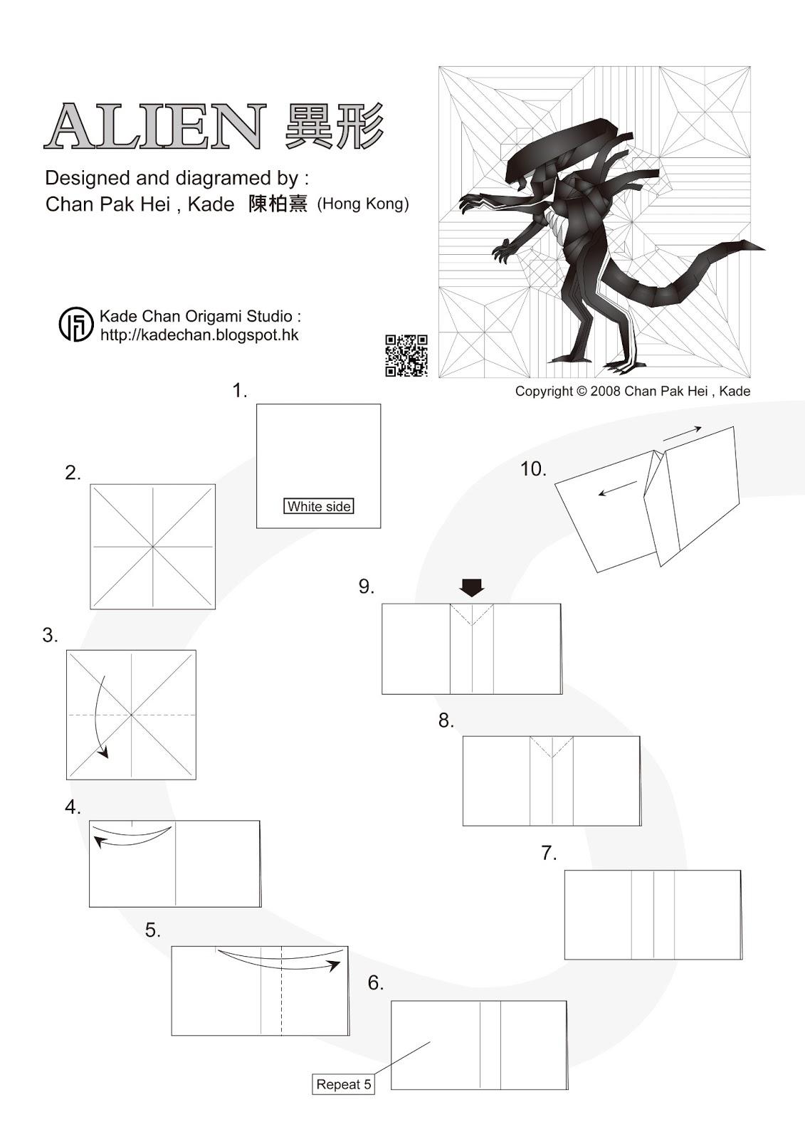Kade Chan Origami Diagrams Opinions About Wiring Diagram Koi Blog Alien Tutorial Rh Kadechan Blogspot Com