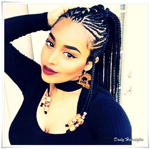 15 Cute \u0026 Cool Black Braided Hairstyles 2019 , Daily