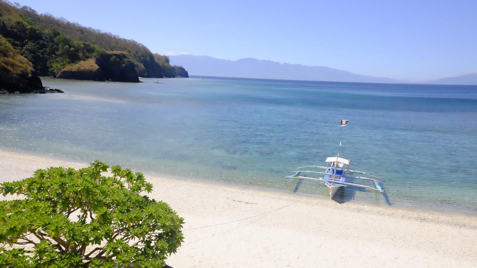 Sepoc Island's white beach sand
