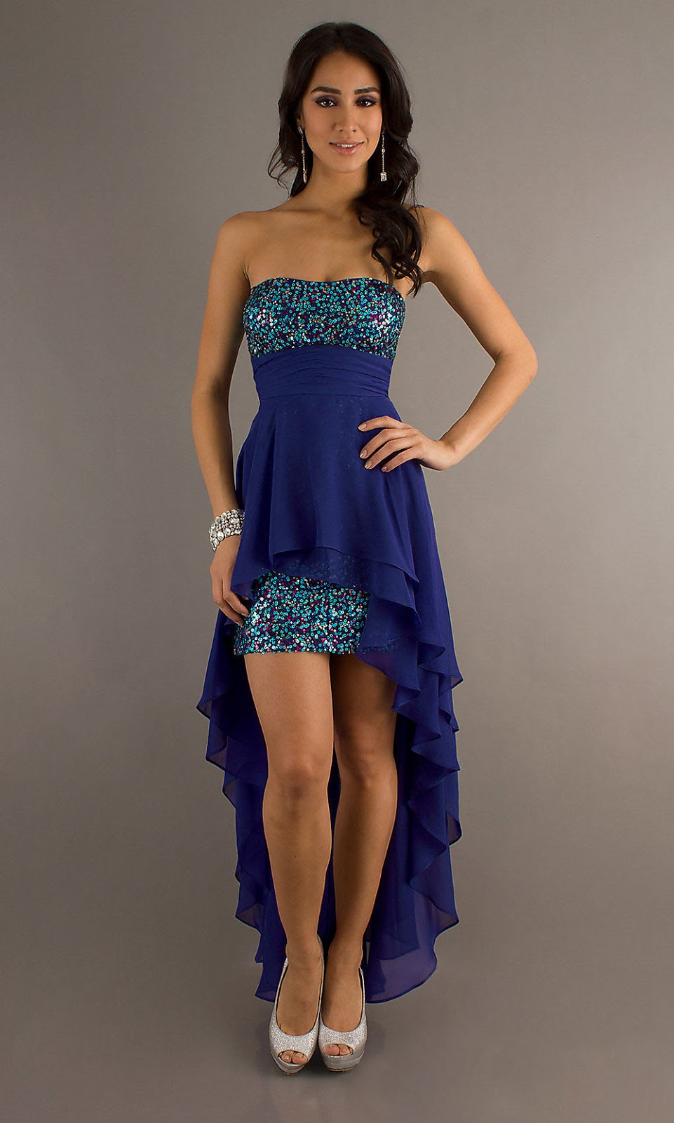 LONG LAYERED HAIRCUT: HIGH LOW PROM DRESSES ARE UNBALANCEDRed High Low Prom Dresses 2013
