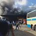 VÍDEO: Ônibus pega fogo na garagem da Novo Horizonte em Conquista-BA.