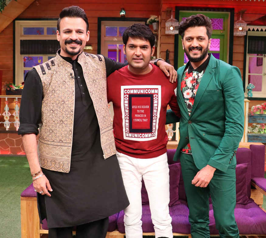Vivek Oberoi and Riteish Deshmukh Promoting Bank Chor Film on The Sets of The Kapil Sharma Show
