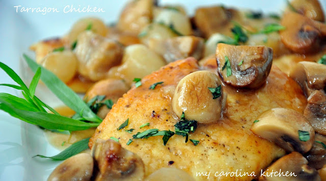 My Carolina Kitchen: Chicken Cutlets with Tarragon Mushroom Sauce
