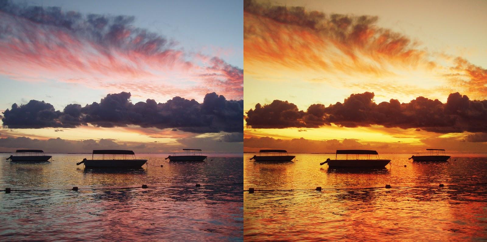 Обработка закатных фотографий в Фотошопе