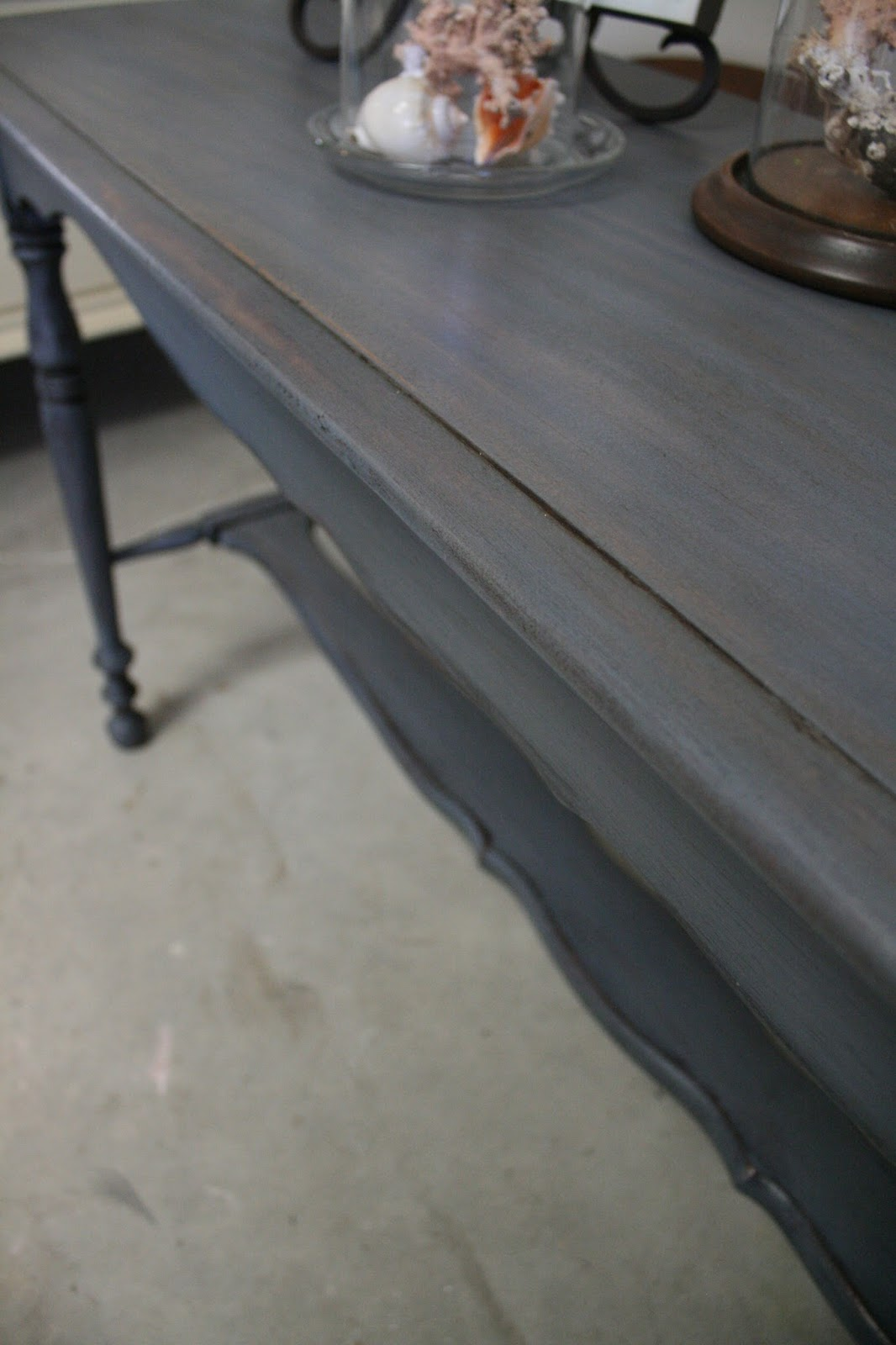 Reloved Rubbish Old Violet Console Table