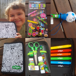 Dan Jon Jr with his Smiggle Haul
