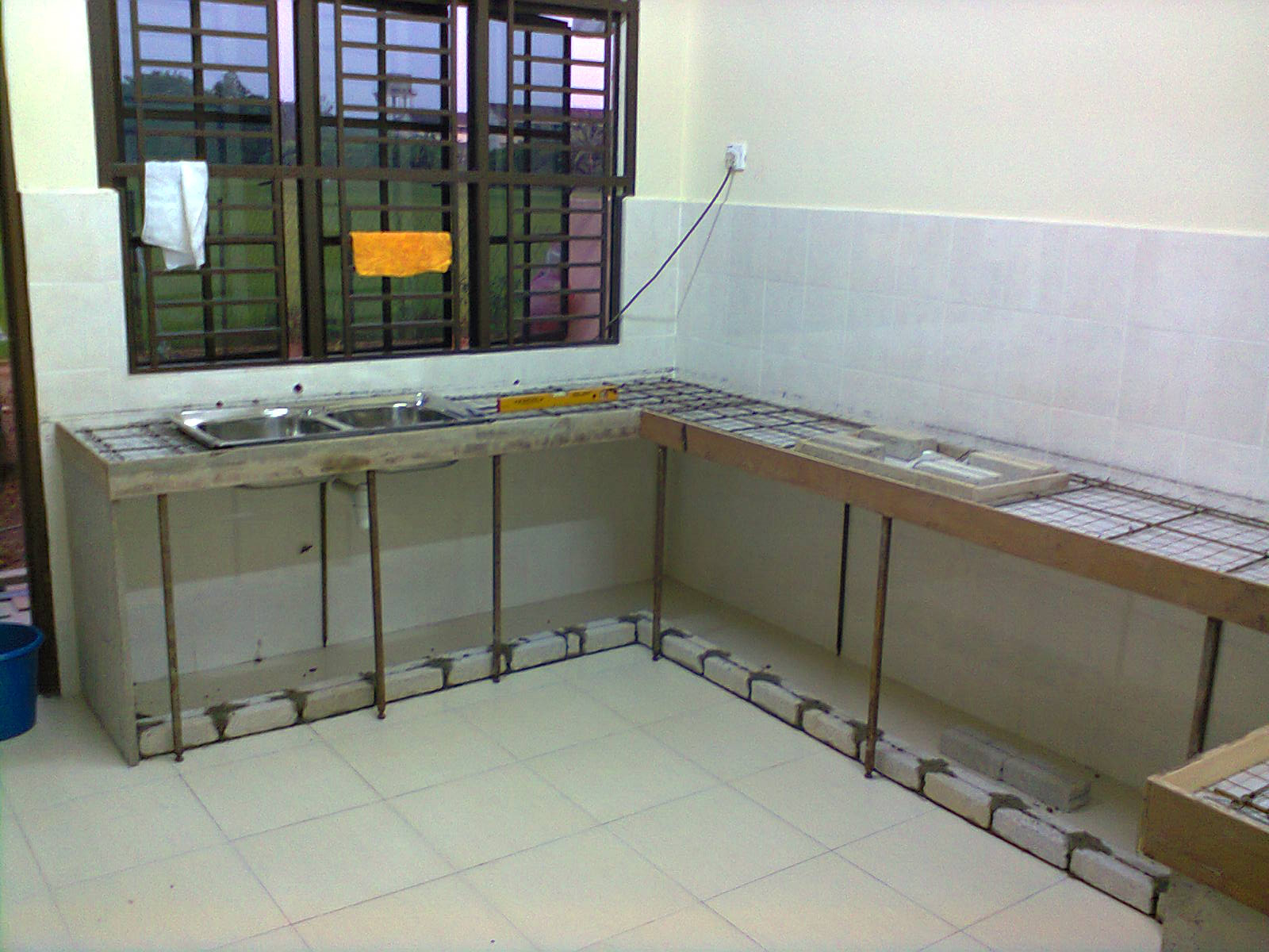 Ini Projek Kabinet Dapur Kami Pada Bulan Jun 2017 Yang Lalu Tuan Rumah Dr Yin Memilih Untuk Membuat Jenis Top Konkret Dan Panel Melamine