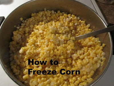 A great way to taste that fresh from the cob flavor!  Freezing Corn -Vickie's Kitchen and Garden