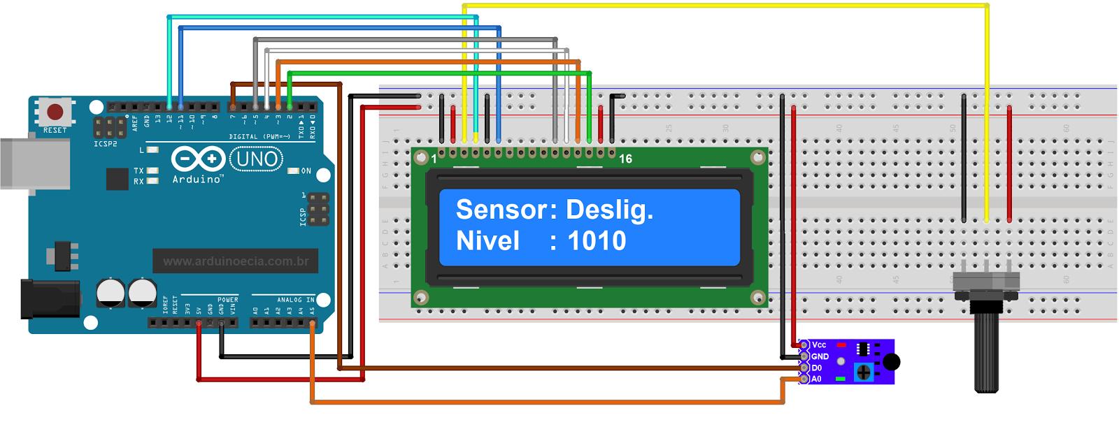 Circuito Arduino - sensor de vibracao SW-1810P