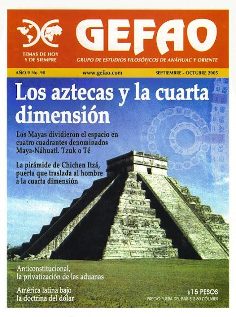 Los Aztecas y la Cuarta Dimension. Revista GEFAO