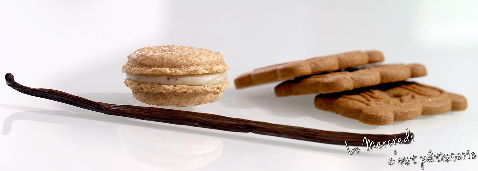 Macarons aux Speculoos et à la vanille