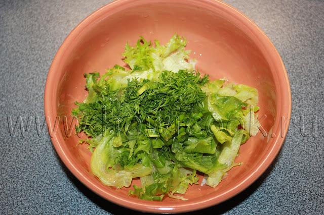 рецепт зеленого салата с пошаговыми фото