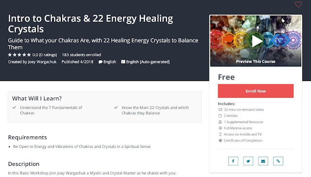 Intro to Chakras & 22 Energy Healing Crystals