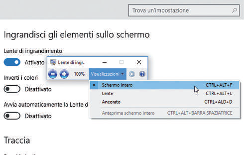 Come attivare la lente di ingrandimento in windows 10