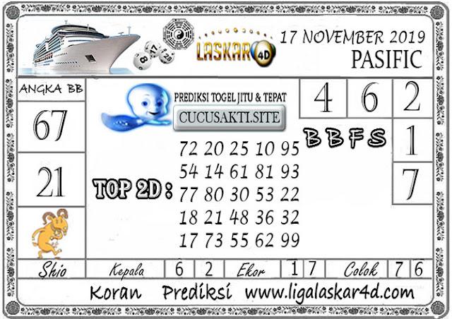 Prediksi Togel Jitu PASIFIC LASKAR4D 17 NOVEMBER 2019