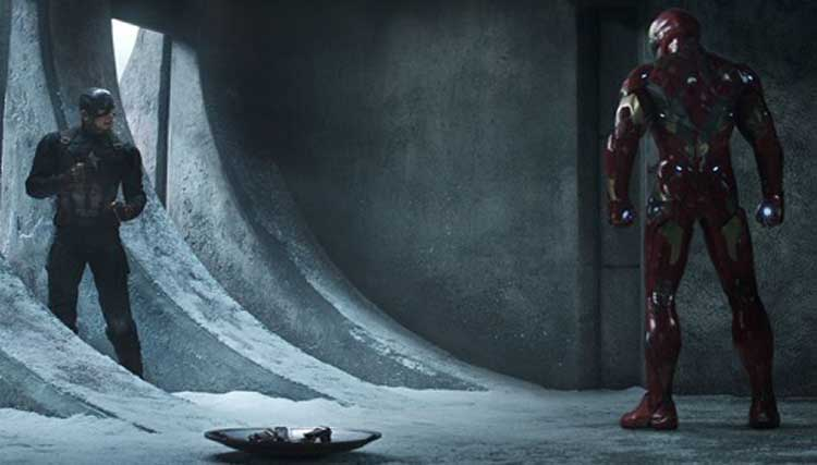 Captain America fights his last battle with Iron Man in Captain America: Civil War.