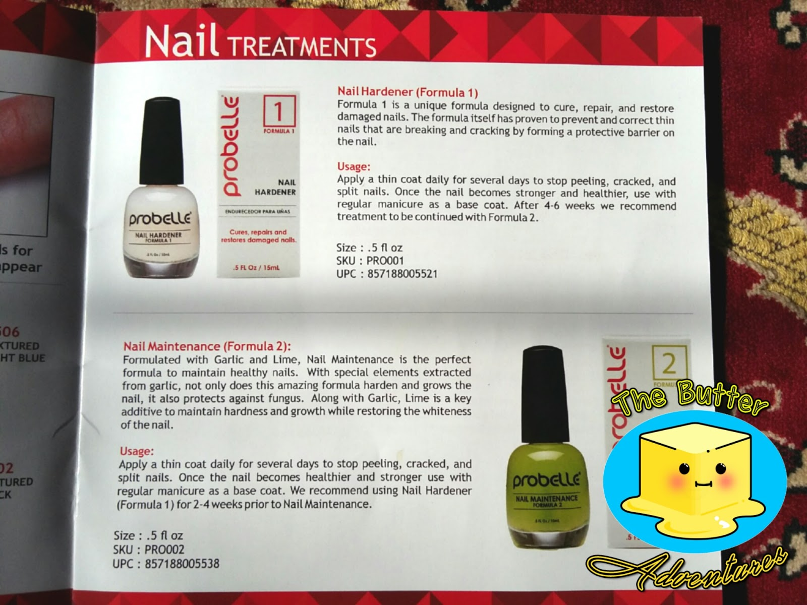 The Butter Adventures: Probelle Nail Treatment Review