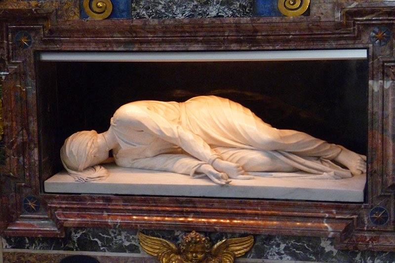 santa cecilia escultura maderno - Santa Cecilia em Trastevere