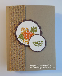Card made with Paper Pumpkin Monthly Craft Kit Stamp Set