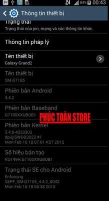Tiếng Việt Samsung G7102 alt