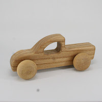 LFC37, Pickup Truck, Lotes Toys Wooden Car