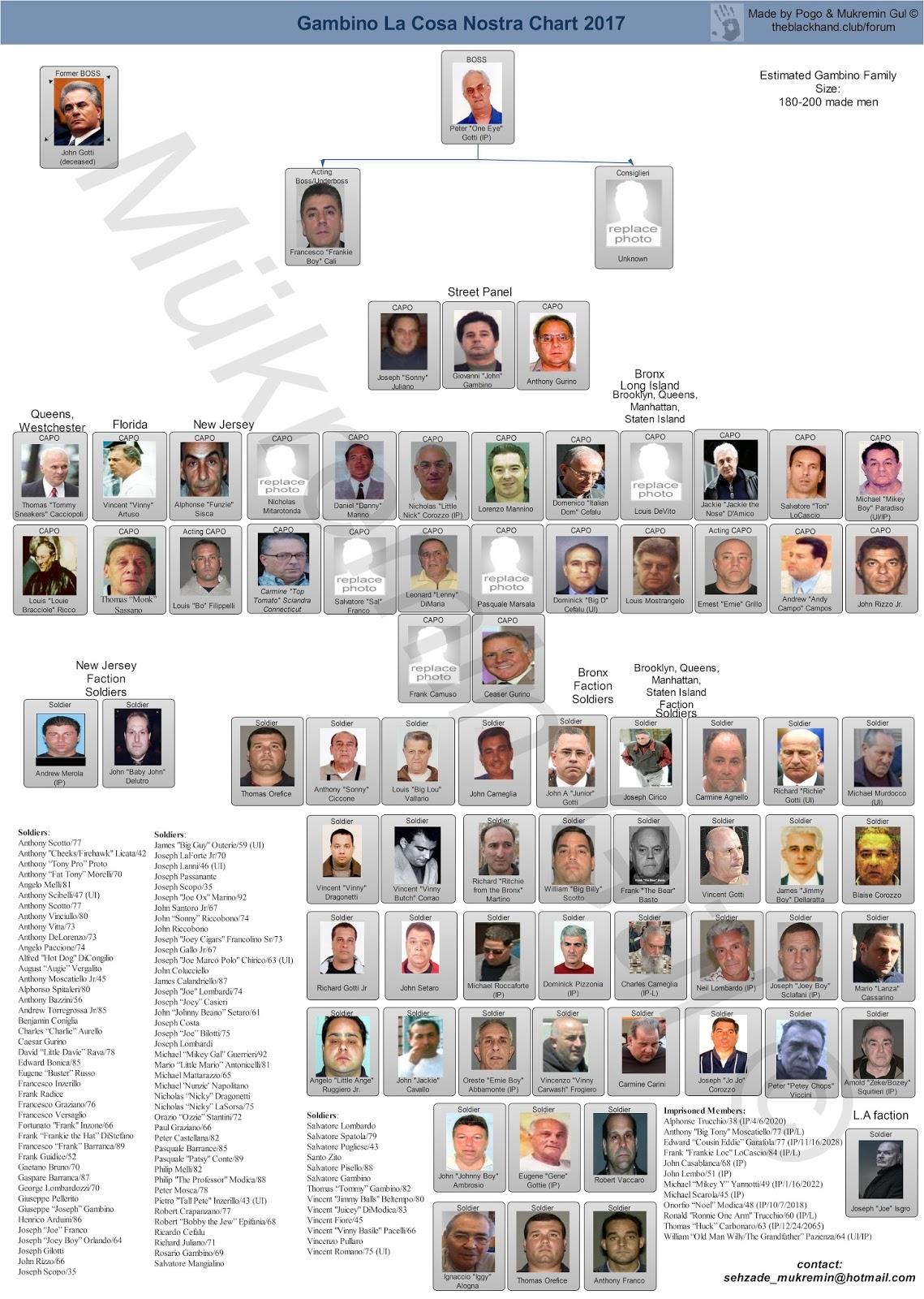 Current leadership charts of the five families five families of genovese crime family thecheapjerseys Images