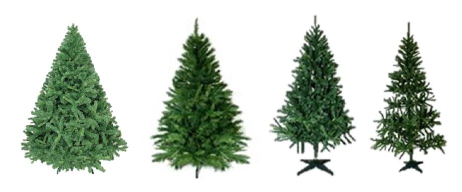 Tipos de árvores de natal