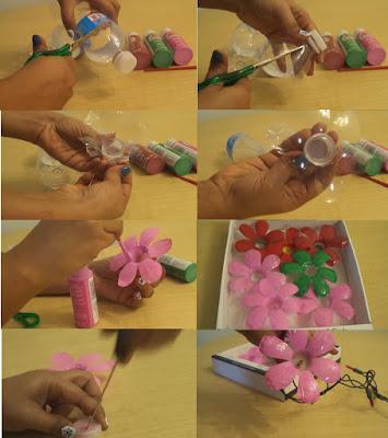 cara membuat kerajinan dari botol plastik
