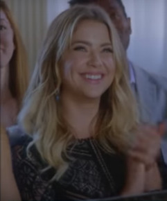 Hanna Marin (Ashely Benson) wearing Black Lace Dress from Ezria Wedding PLL 7x20