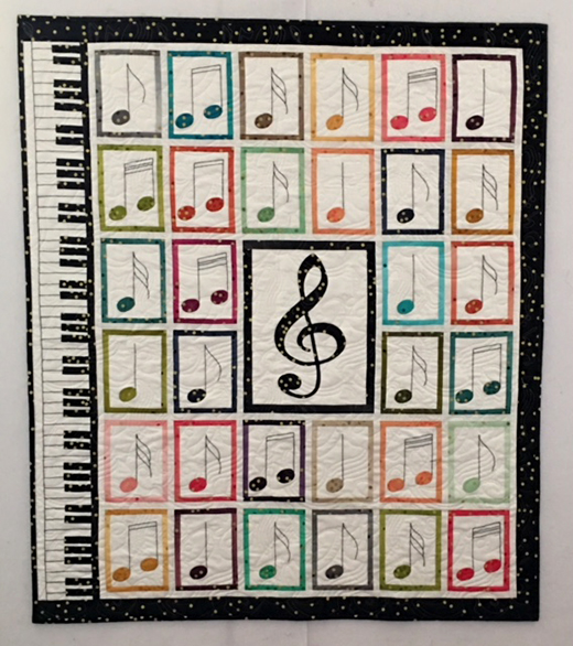Colors of Music Quilt Free Tutorial designed by Mary Andra Holmes of Sister Quilting Trunk for Moda Bake Shop