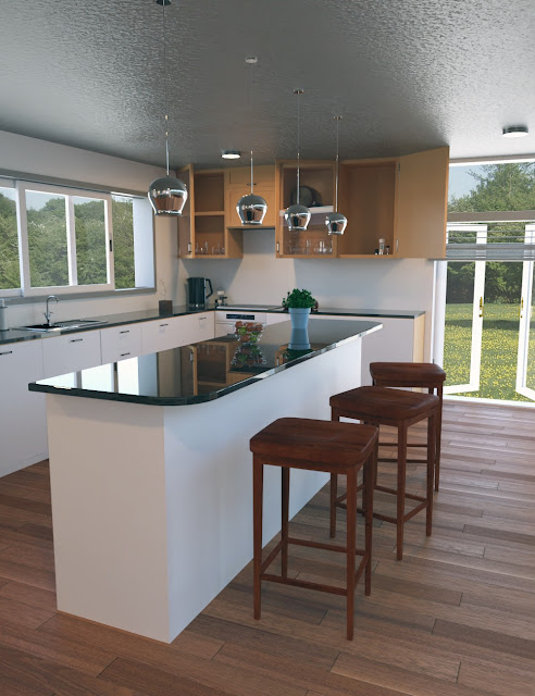 Contemporary Cabin Kitchen