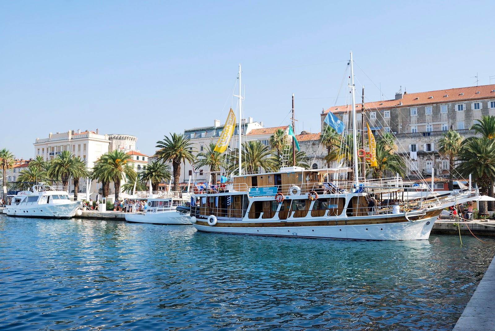 split croatia europe dalmatia adriatic cruise seafront promenade riva