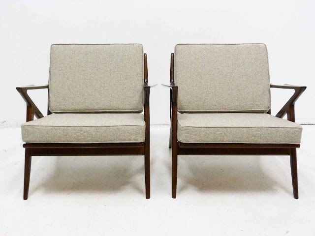 "Paul Jensen for Seilg Mid Century Danish Modern ""Z"" Lounge Chairs 2"