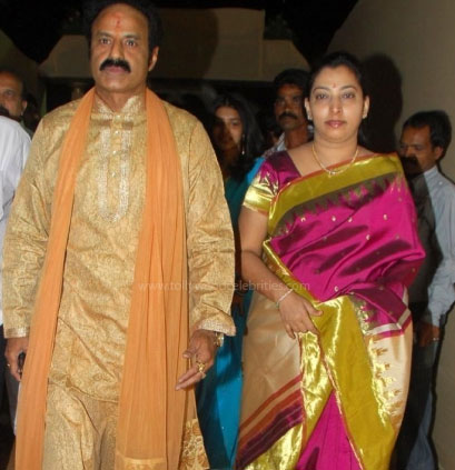 Balakrishna and his wife: