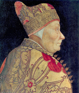 Lazzaro Bastiani's profile portrait of the  65th Doge of Venice, Francesco Foscari