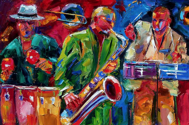 Portrait Artists International Original Jazz Art Music
