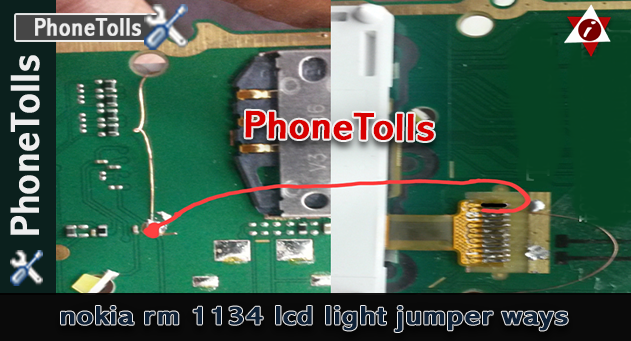 Nokia rm 1134 LCD light jumper ways  Phoolls