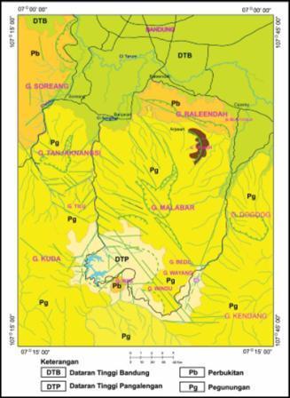 Peta Fisiografi Daerah Bandung Selatan
